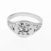 Small Welsh Dragon Signet Ring SAH11A-S