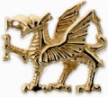 Welsh Dragon Tie Stud D9TT