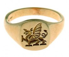 Welsh Dragon Signet Ring SAH28