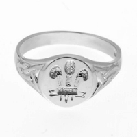 Small Welsh Feathers Signet Ring SAH5A-S