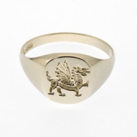 Medium Welsh Dragon Signet Ring SAH9